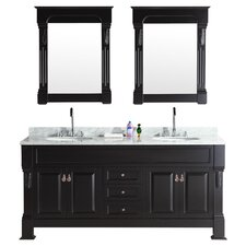 "Marcos 72"" Double Vanity Set in Espresso"