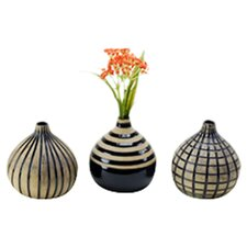 3 Piece Onion Vase Set