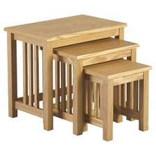 Whitby 3 Piece Nest of Tables in Ash