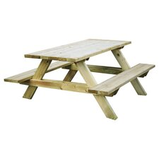 Katrina Rectangular Picnic Table in Natural