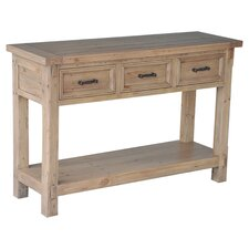 Naples Console Table in Weathered Natural
