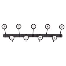 Scribe Wall Mount Coat Rack in Black