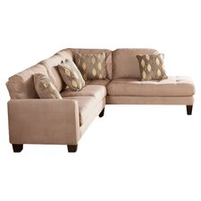 Miller Sectional Sofa in Brown
