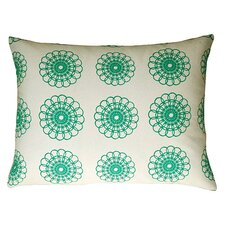 Doily Accent Pillow in White & Aquamarine
