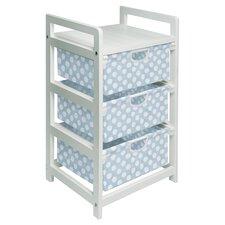 Polka Dot Storage Hamper in White & Blue