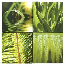 Kona Leaf 4 Panel Canvas Art