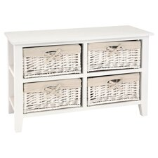 Cayman 4 Drawer Chest in White