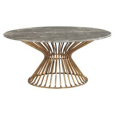 Baldwin Coffee Table in Gold Leaf