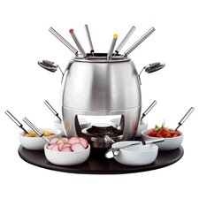 23 Piece Fondue Set in Stainless Steel