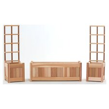 5 Piece Planter & Trellis Set in Natural