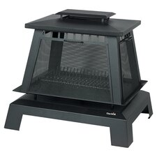 Trentino Deluxe Pagoda Fireplace in Black