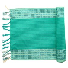 Sarah Cotton Table Runner in Aqua