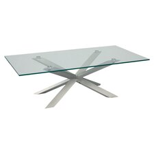 Braga Coffee Table in Stainless Steel