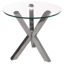 Redondo End Table in Stainless Steel