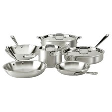 All-Clad 9 Piece Cookware Set in Stainless Steel