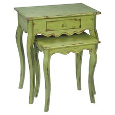 Verde 2 Piece Nesting Tables in Brown