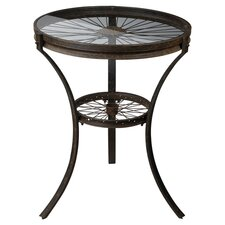 Industrial End Table in Rusted Black
