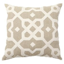Tiara Wool Accent Pillow in Taupe