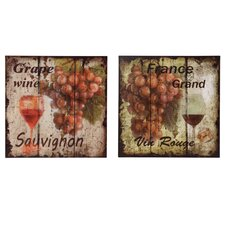 Grapes Metal Wall Plaque
