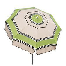 6' Italian Patio Umbrella in Oatmeal & Green
