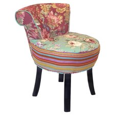 Rose Slipper Chair II in Mint & Coral