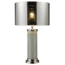 "Santorini  24"" H Table Lamp in Chrome with Drum Shade"