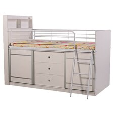 Lincoln Midsleeper Bed in White