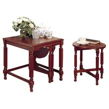 Tiago 3 Piece Nest of Tables in Cherry