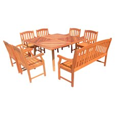 Canyon 8 Piece Dining Set in Natural