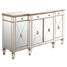 Borghese Mirrored Buffet Server in Silver