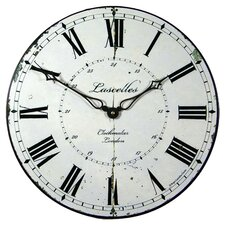 London Clockmakers Dial Wall Clock in White