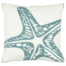 Edwin Accent Pillow in Blue & Cream