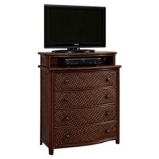Marco Island 4 Drawer Media Chest in Cinnamon
