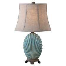 Seashell Table Lamp in Blue