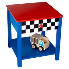 Race Car 1 Drawer Nightstand in Red