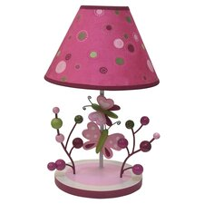 Raspberry Swirl Table Lamp in Pink & Green