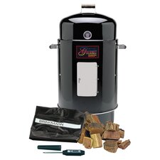Gourmet Charcoal Smoker in Black