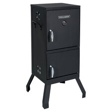 Split Door Charcoal Smoker in Black
