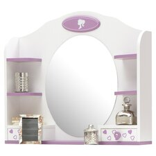Princess Oval Dresser Mirror in White