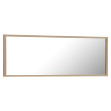 White Mocha Dresser Mirror in Natural