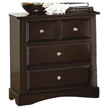 Isle 4 Drawer Nightstand in Cappuccino