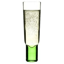 Club Champagne Glass in Green & Pink