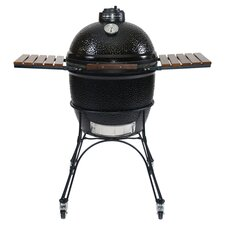 Ceramic Charcoal Grill in Black