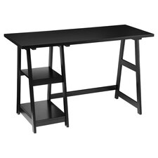 Trestle Writing Desk in Black