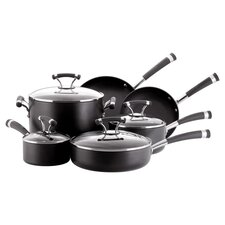 Contempo 10 Piece Cookware Set in Black
