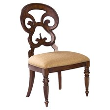 Langdon Butterfly Back Side Chair in Distressed Mahogany