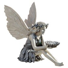 The Sunflower Fairy Statue in Two Tone Grey