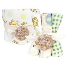 Dr. Seuss Lorax Bouquet Hooded Towe & Wash Cloth Set
