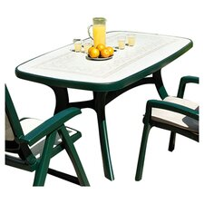 Toscana Ravenna Rectangular Dining Table in Green