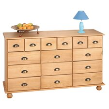 Romeo 15 Drawer Chest in Sahara